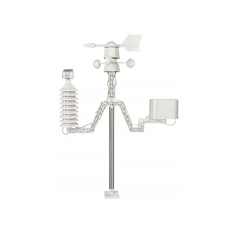 温美测LDT-2040彩屏温湿度计 小型家用气象站 气压雨量器 无线太阳能雨量计